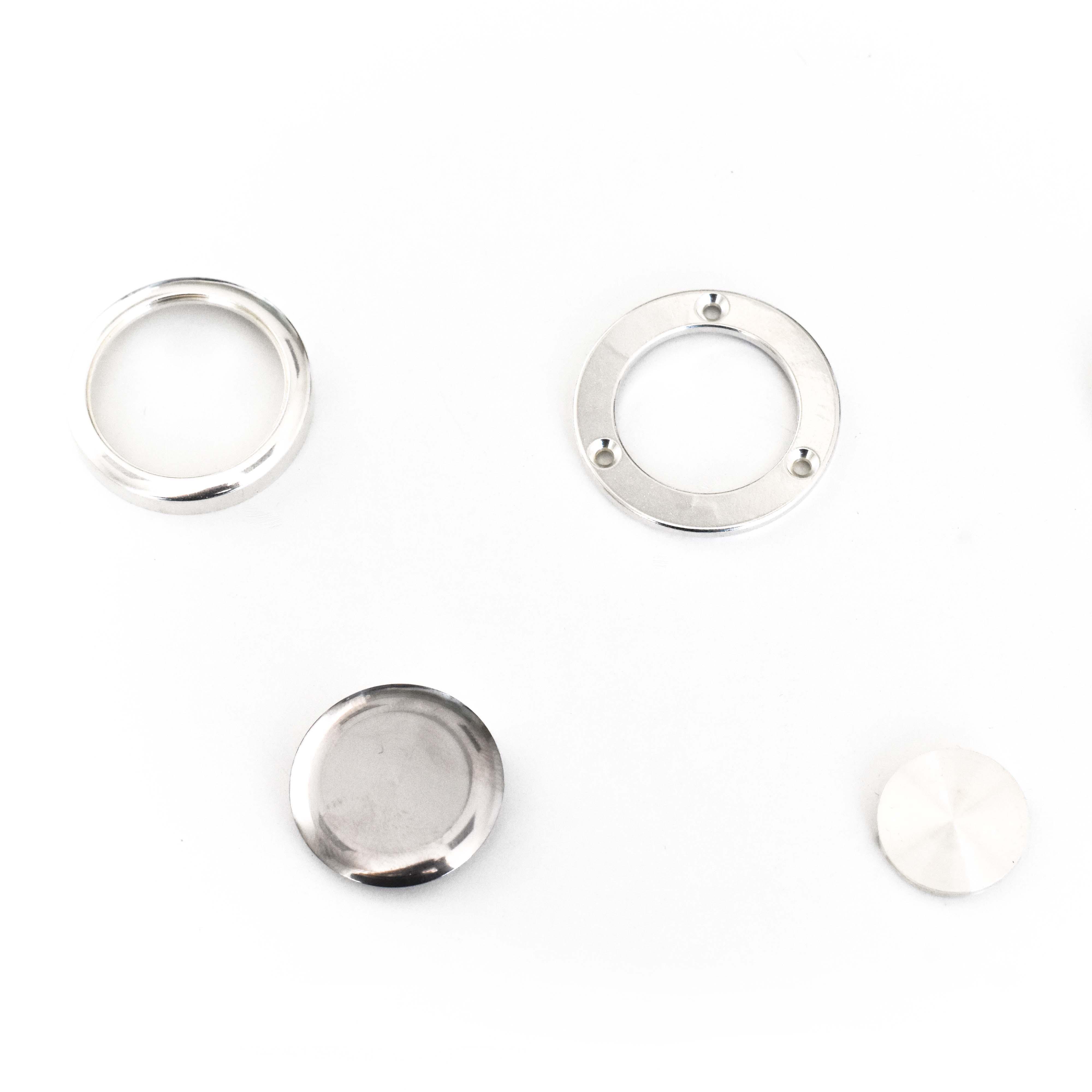 Ghiere e componenti per orologi in  argento e altri metalli