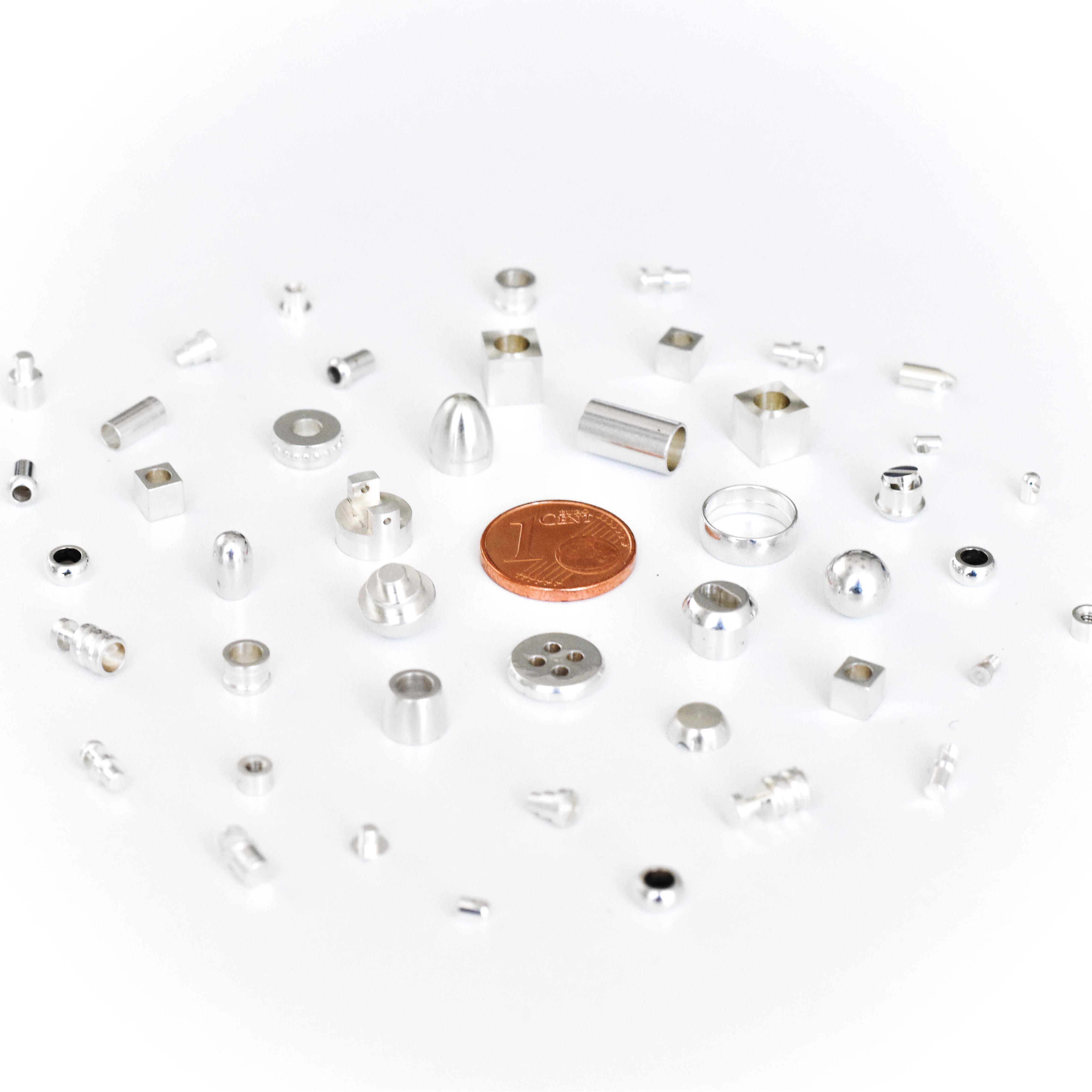Minuteria personalizzata in argento e altri metalli per oreficeria e argenteria