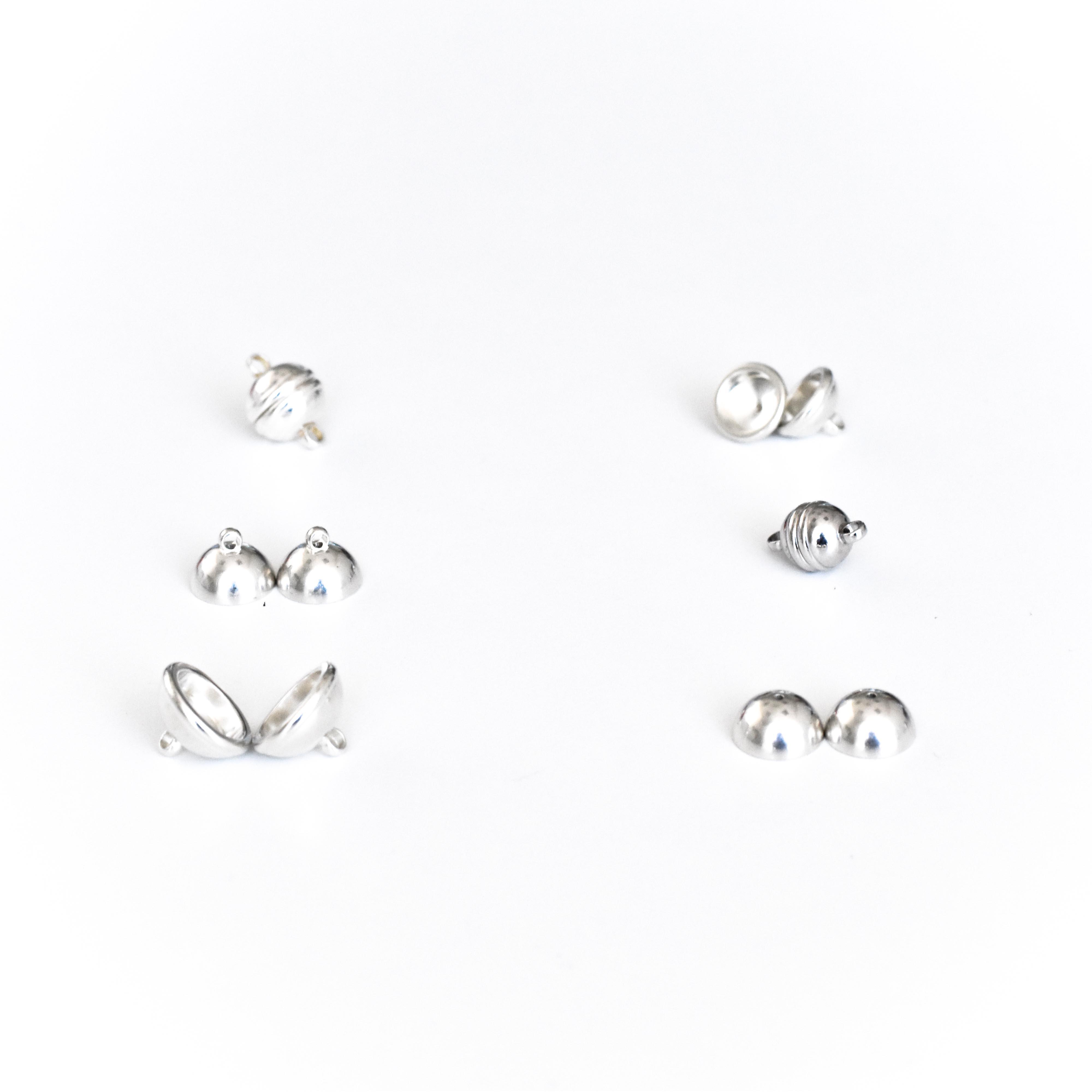 Componenti per chiusure magnetiche  in argento