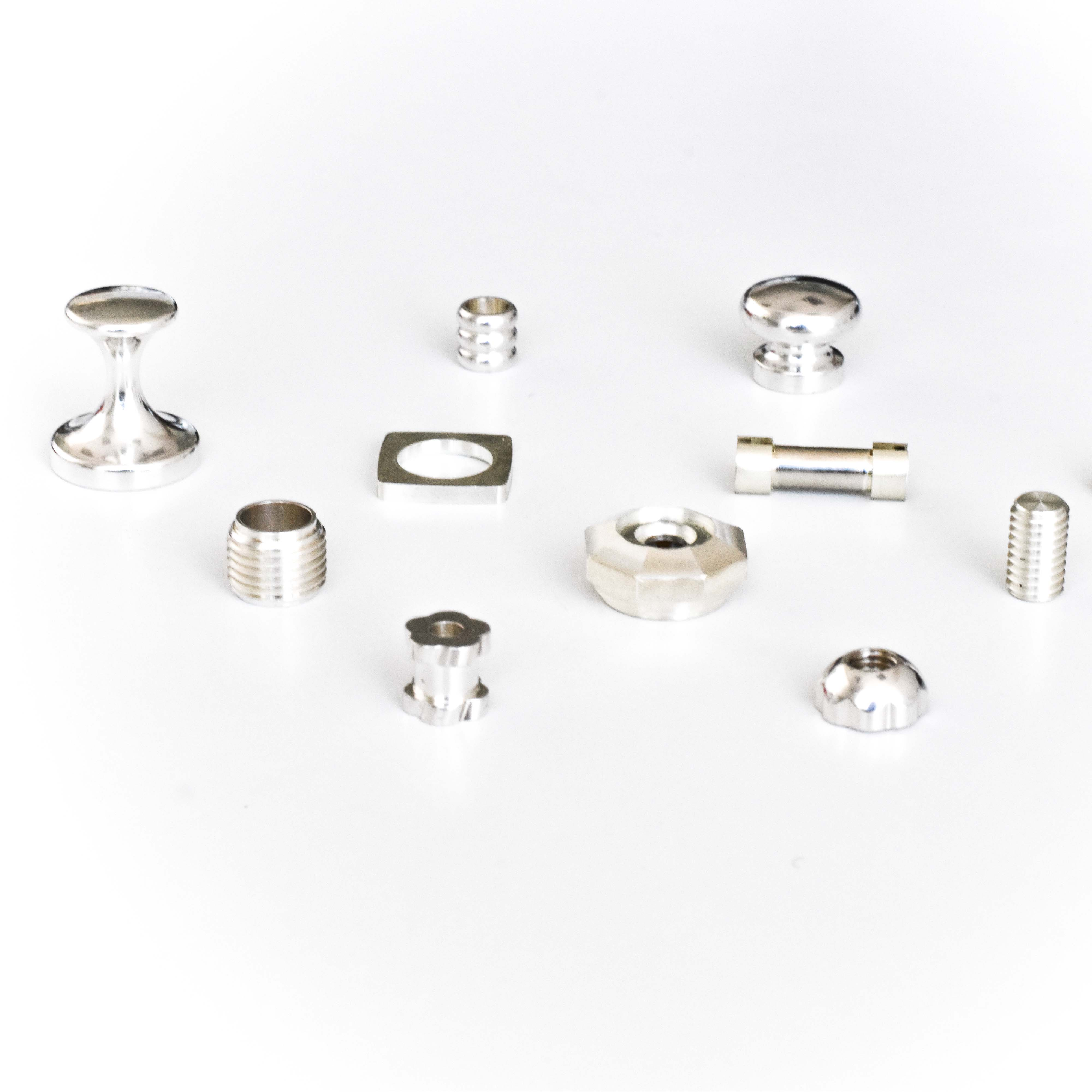 Personalized small silver parts and other metals for goldsmithing and silverware